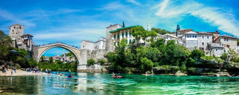 Ponte velha de Mostar foto de stock royalty free