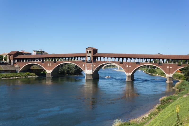 Ponte velha de Pavia imagens de stock