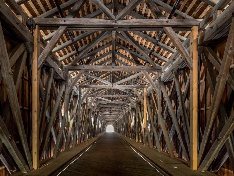 Ponte velha do Reno de Suíça a Liechtenstein, Vaduz, Liech imagens de stock royalty free