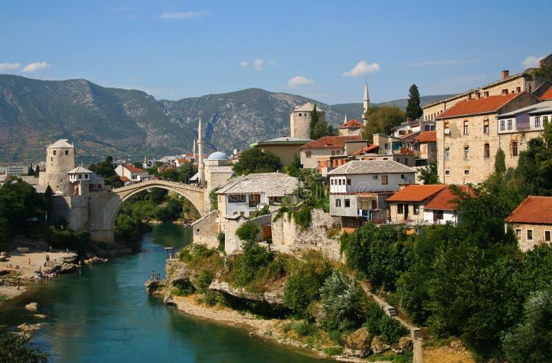 Ponte velha em Mostar imagens de stock royalty free