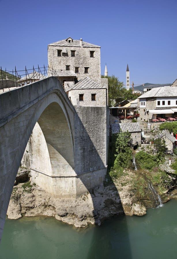 Ponte velha em Mostar Bósnia e Herzegovina imagens de stock