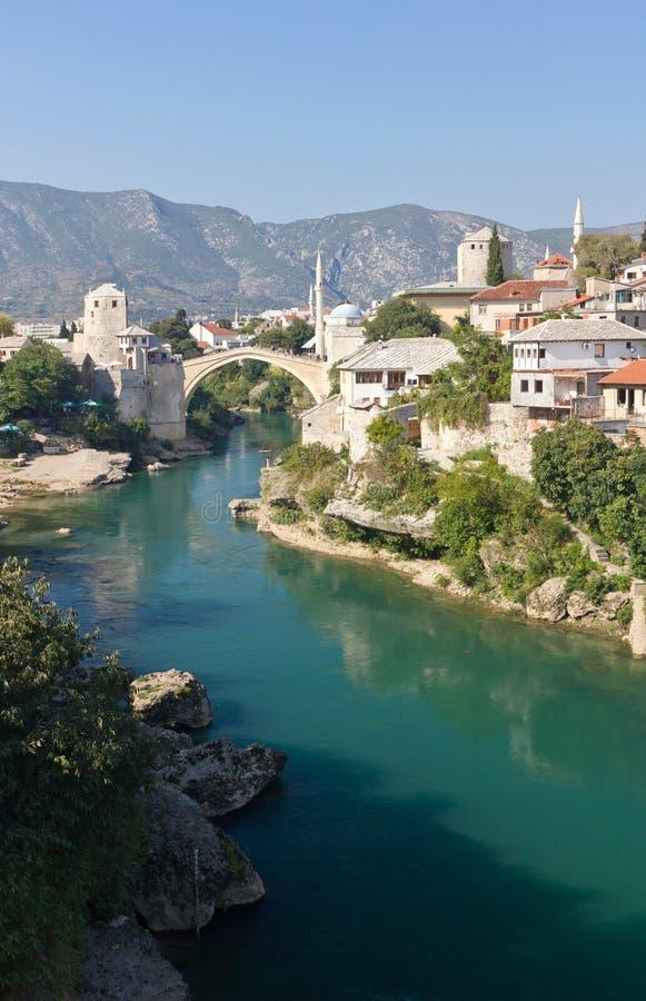 Ponte velha famosa em Mostar, foto de stock royalty free