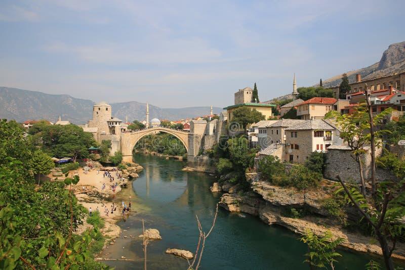 Ponte velha II, Mostar, Bósnia imagem de stock royalty free