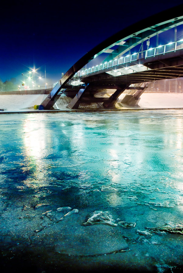 Ponte Vilnius do rei Mindaugas imagem de stock