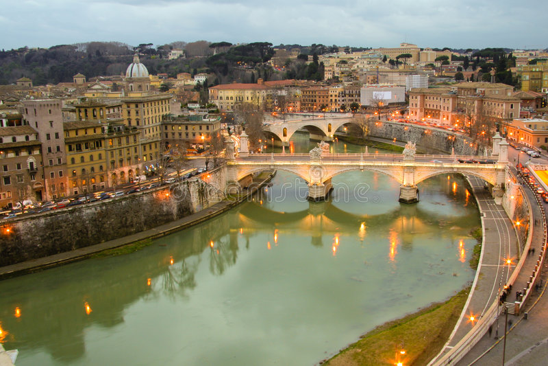 Ponte Vittorio Emanuele II royalty free stock images