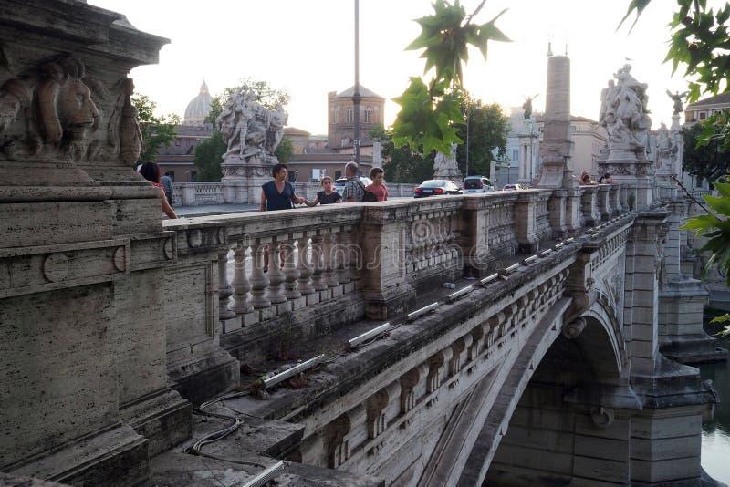 Ponte Vittorio Emanuele II ? Rome, Italie photo stock