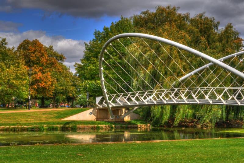 A ponte voada imagem de stock
