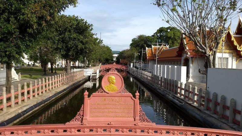 Ponte in Wat Benchamabophit immagini stock libere da diritti