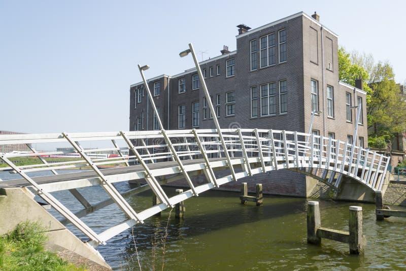 Ponte in Wittenburg, Amsterdam, Paesi Bassi fotografie stock