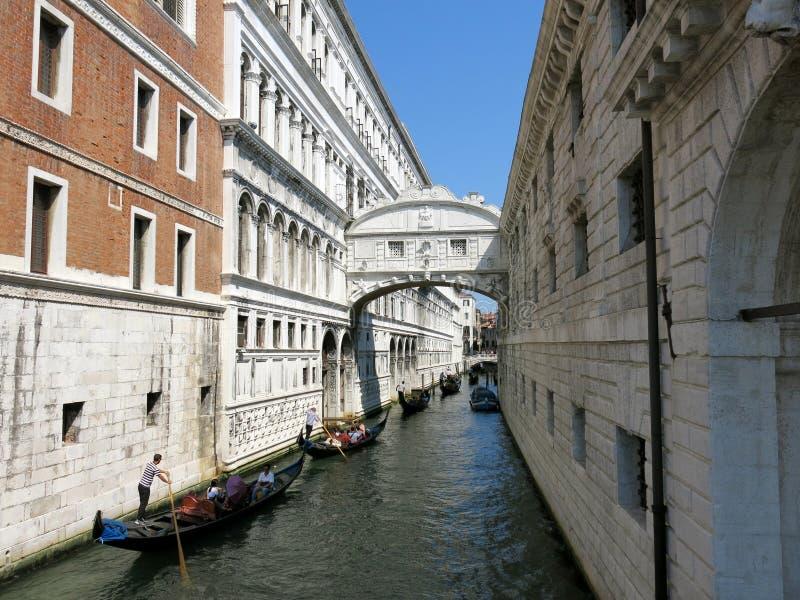 Pontedei Sospiri, Venetië royalty-vrije stock foto's