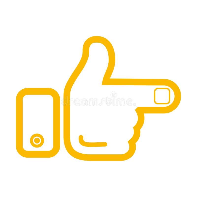 Ponteiro da mão e do dedo O ícone Ilustração do vetor ilustração stock