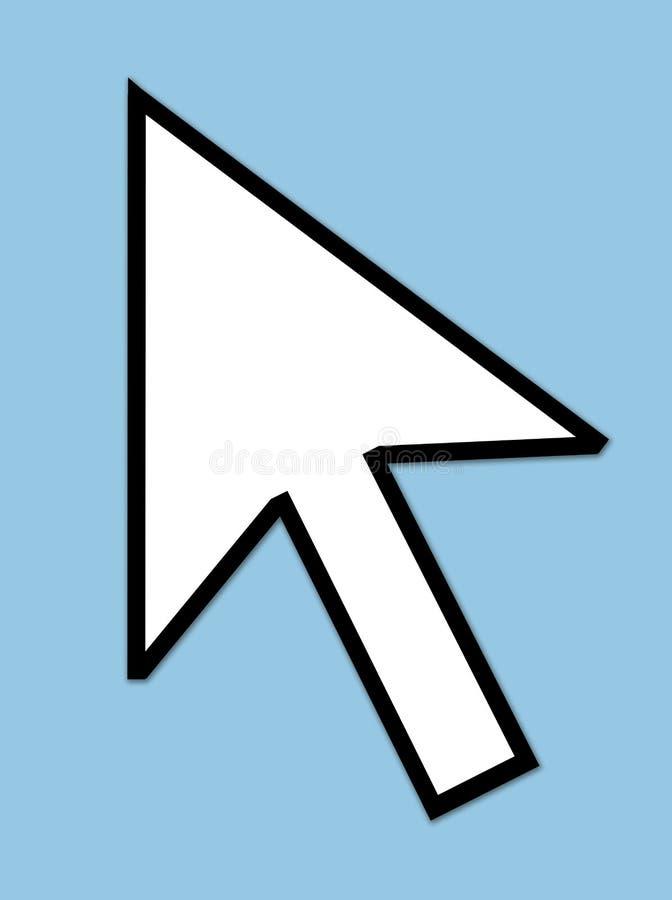 Ponteiro de seta do cursor ilustração do vetor