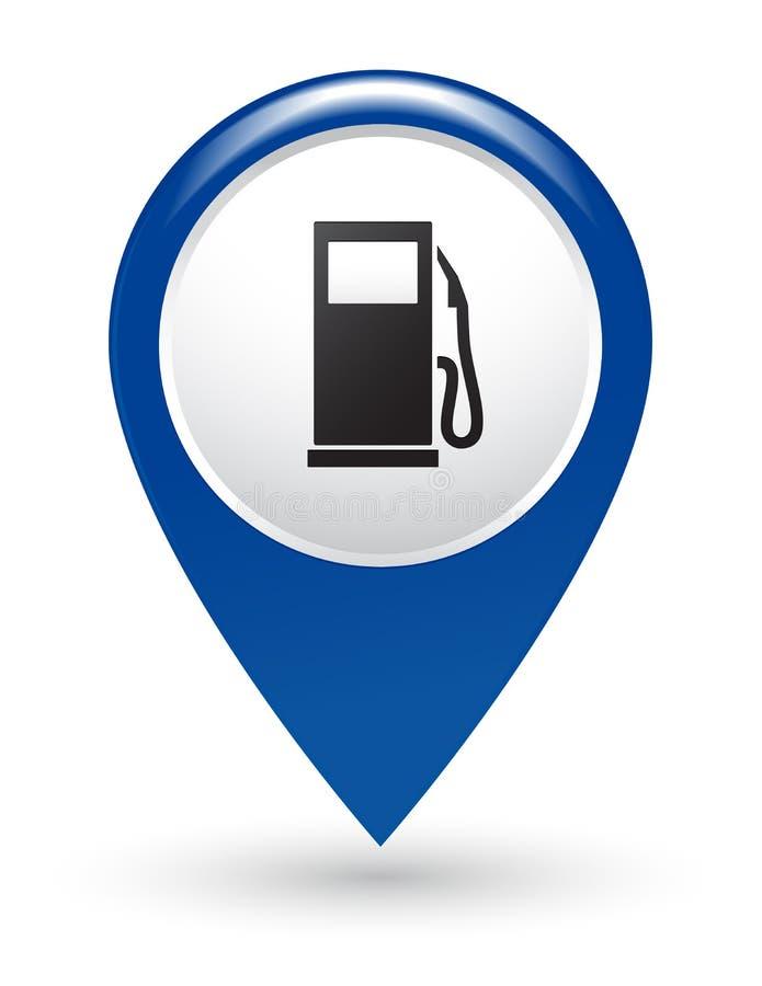 Ponteiro do posto de gasolina ilustração do vetor