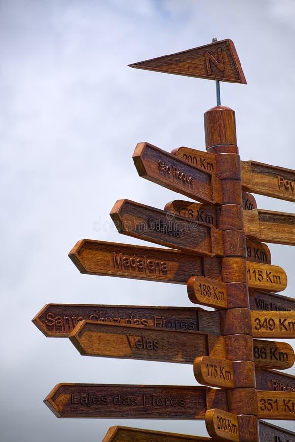 Ponteiro do sentido, Angra, Terceira, Açores imagens de stock