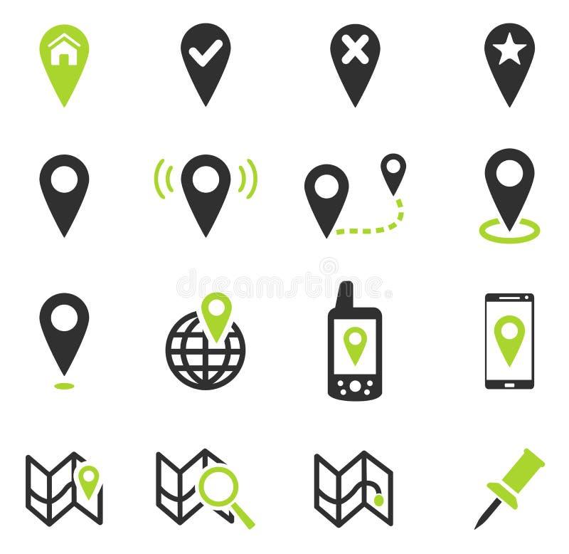 Ponteiro e mapas ilustração stock