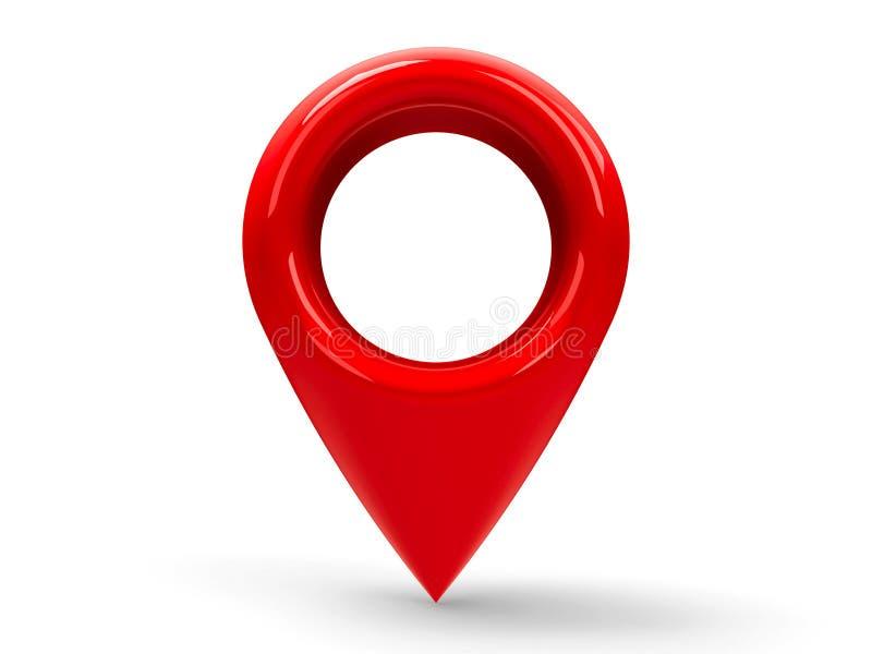 Ponteiro vermelho 2 do mapa ilustração royalty free