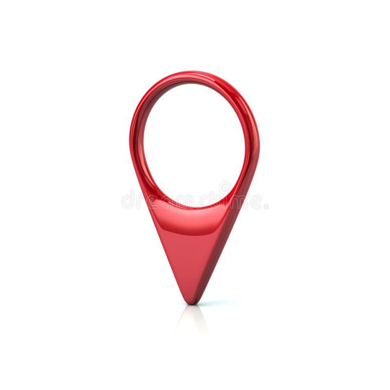 Ponteiro vermelho do mapa ilustração do vetor