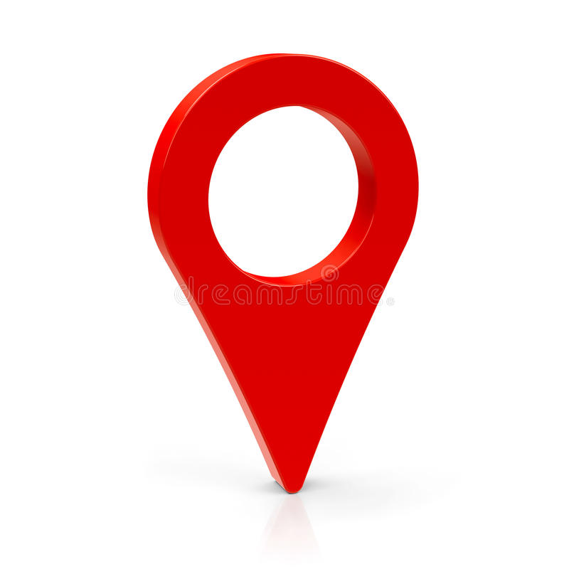 Ponteiro vermelho 3 do mapa ilustração royalty free