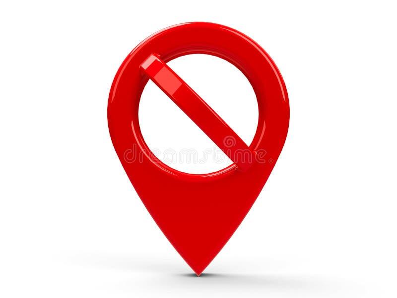 Ponteiro vermelho do mapa nenhum ilustração do vetor