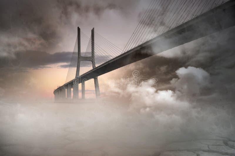 Pontes ilustração royalty free