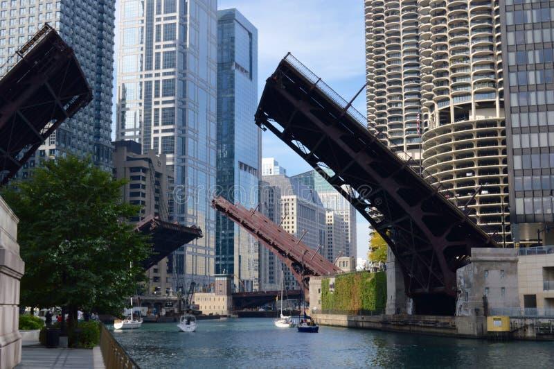 Pontes acima fotografia de stock