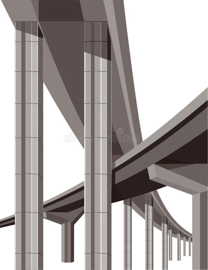 Pontes da estrada ilustração do vetor