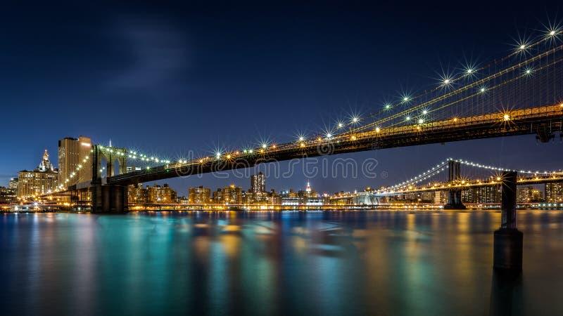 Pontes de Brooklyn e de Manhattan imagens de stock royalty free