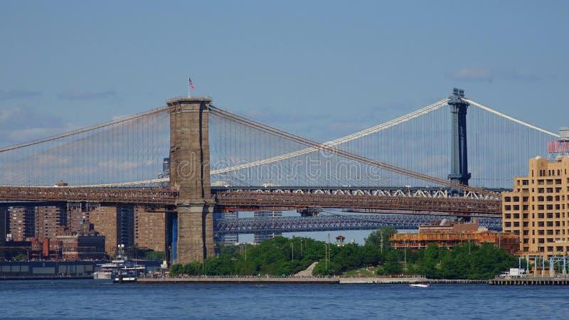 Pontes de Brooklyn Manhattan foto de stock royalty free