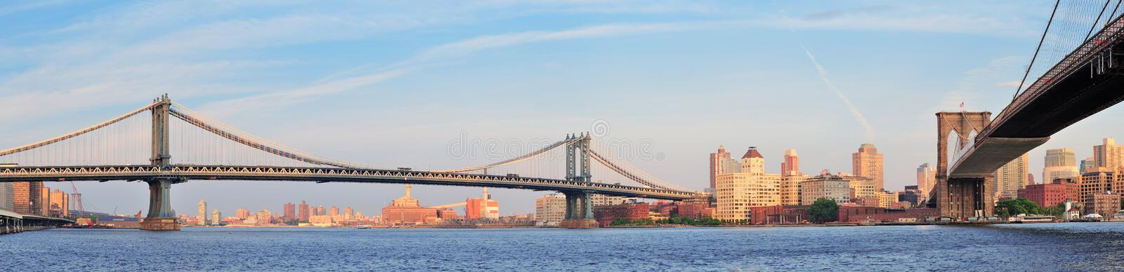 Pontes de New York City imagem de stock royalty free