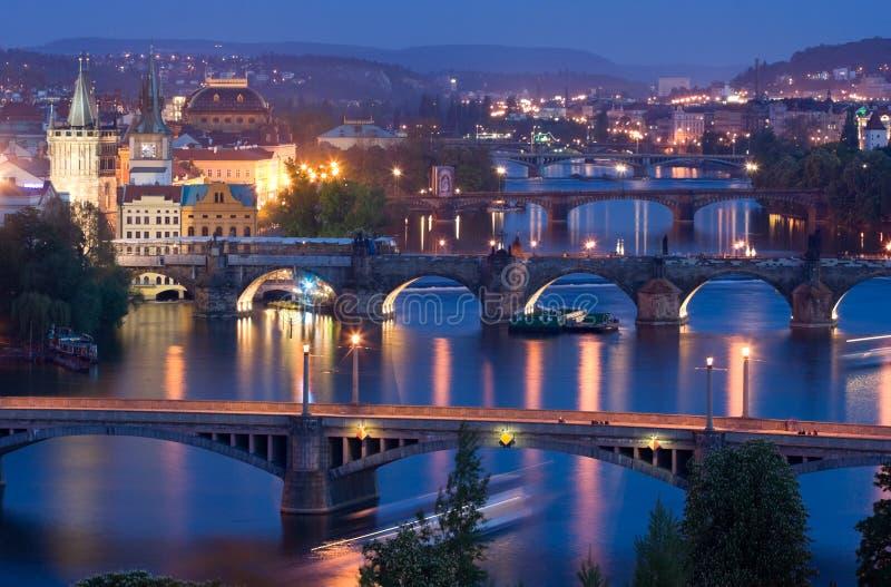 Pontes de Praga fotografia de stock royalty free