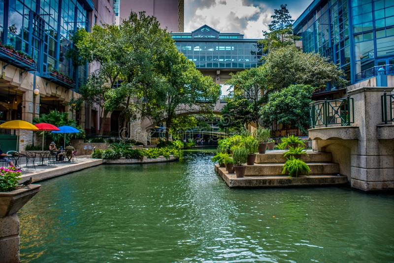 Pontes de San Antonio Riverwalk imagem de stock royalty free