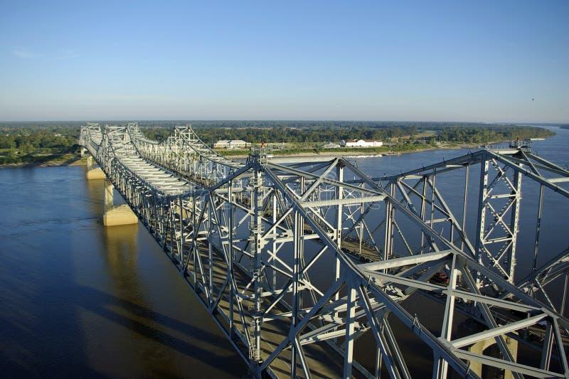 Pontes do rio Mississípi imagem de stock royalty free