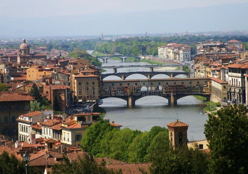 Pontes Florentine imagem de stock royalty free