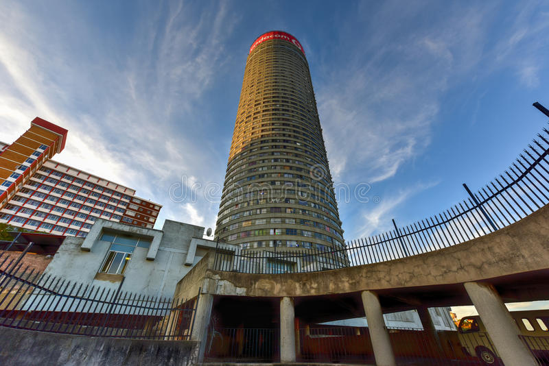 Pontetoren - Hillbrow, Johannesburg, Zuid-Afrika royalty-vrije stock foto