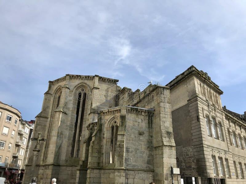 Pontevedra, Pontevedra / Spain - July 6 2018: View of the ruins of the ancient convent of Santo Domingo in the city of Pontevedra stock photo