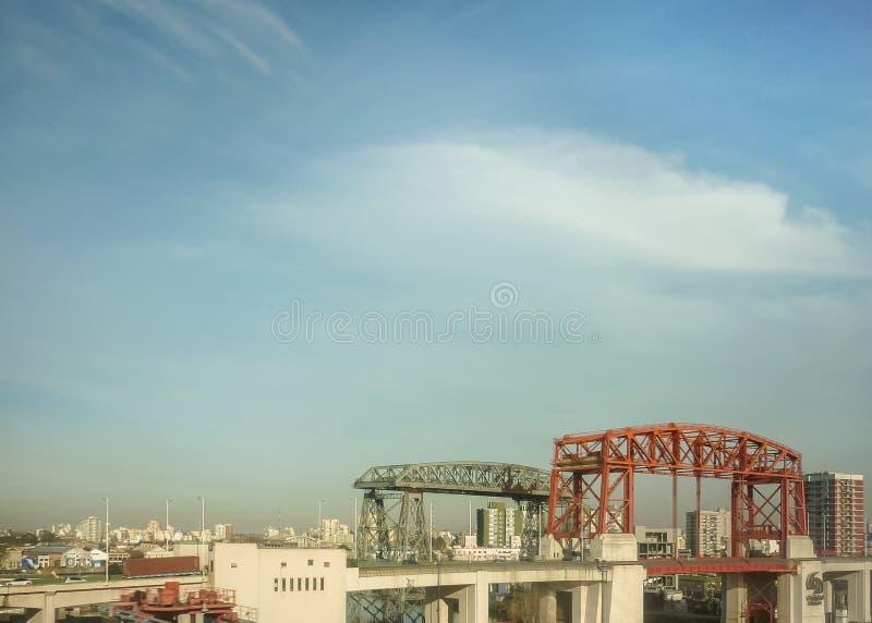 Ponti e costruzioni a Buenos Aires Argentina immagine stock libera da diritti