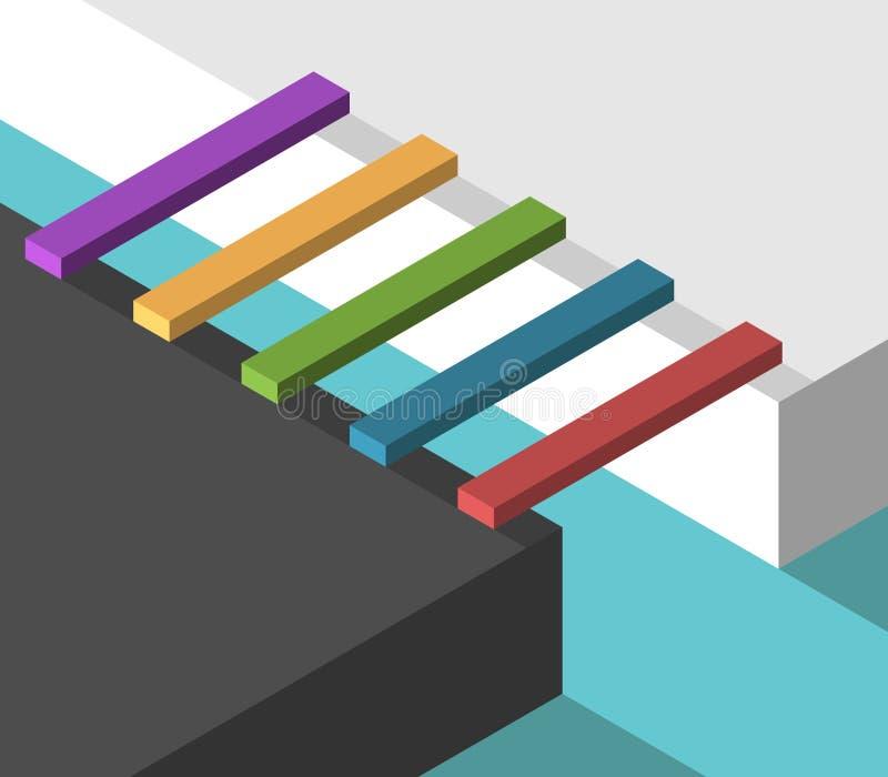Ponti multicolori isometrici illustrazione di stock