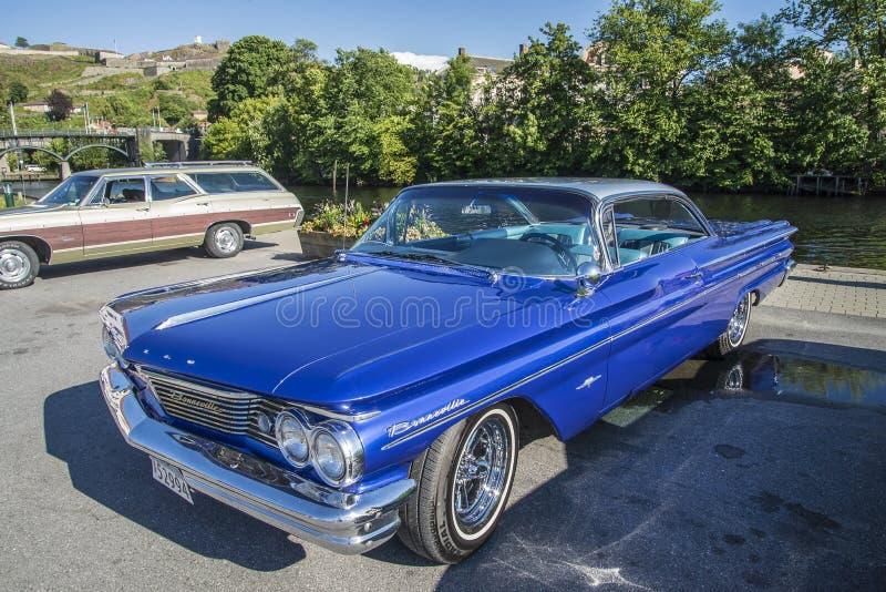 1960 Pontiac Bonneville 2 Deurhardtop royalty-vrije stock afbeeldingen