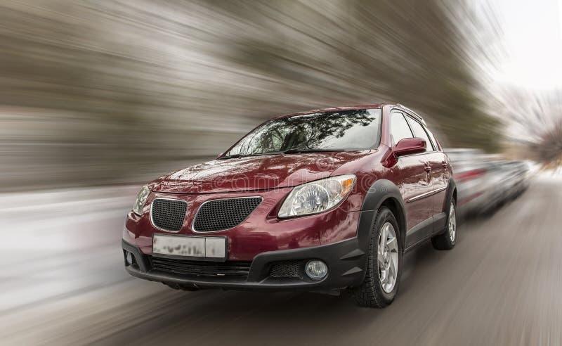 Pontiac czerwieni samochód obrazy royalty free