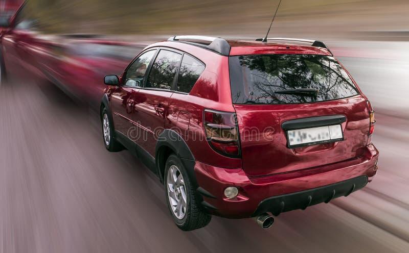 Pontiac czerwieni samochód obrazy stock