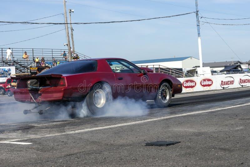 Pontiac Firebird en la acción foto de archivo libre de regalías