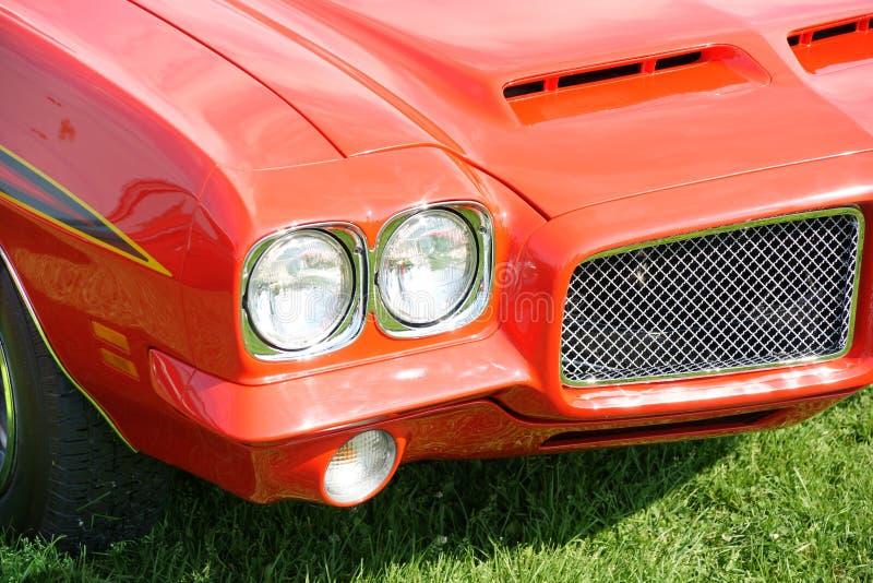 Pontiac GTO. Closeup of the Pontiac GTO front end royalty free stock photo
