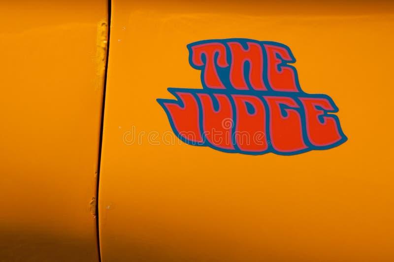 1969 Pontiac GTO het Rechtersembleem stock afbeelding