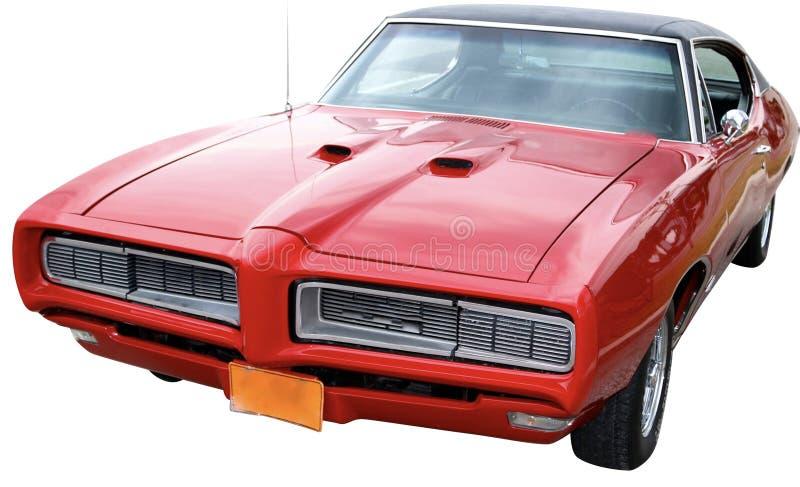 Pontiac GTO sur le fond blanc photos stock