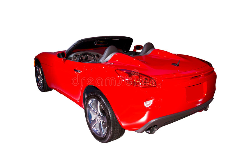 Pontiac Solstice. 2006 Pontiac Solstice. Isolated on a white background. Clipping path included. More car photos in my gallery stock image