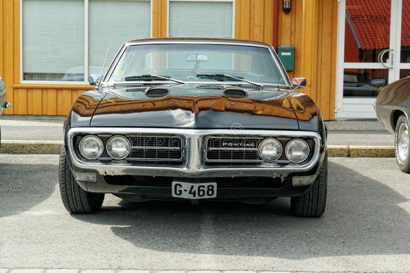 Pontiac w czerni obraz royalty free