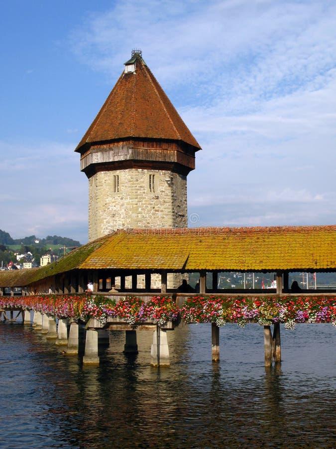 Ponticello 02 Erbaspagna/Lucerna, Svizzera della cappella fotografia stock libera da diritti