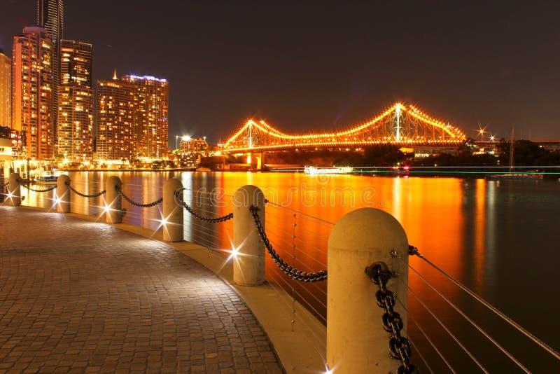 Ponticello Brisbane di storia immagine stock libera da diritti