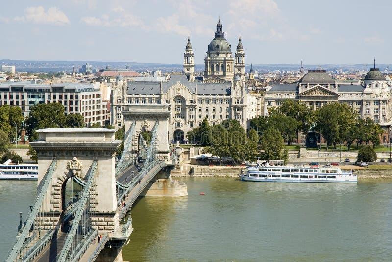 Ponticello Chain di Budapest immagine stock