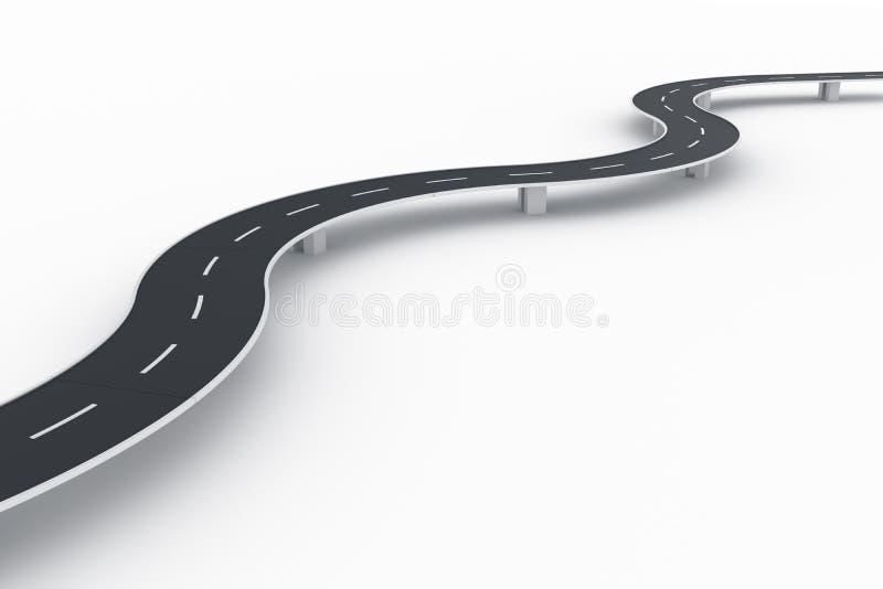 Ponticello curvo della strada royalty illustrazione gratis